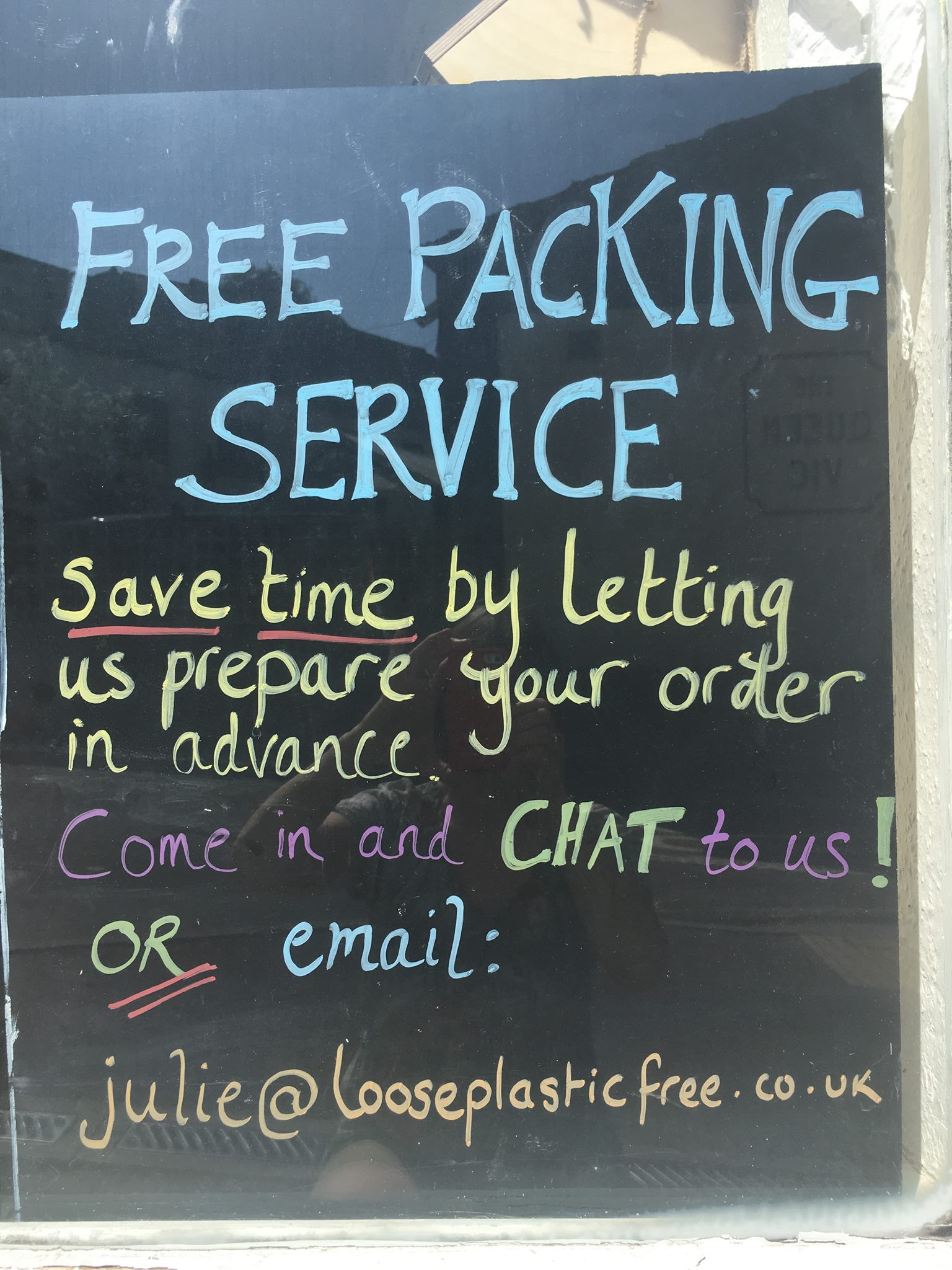 packing service sign