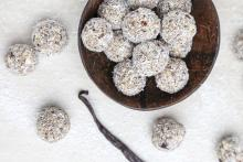 How about a healthy sweet treat of White Chocolate Bliss Balls?